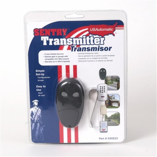 USAutomatic 030213 Sentry Transmitter 2 button Remote Works With Sentry Gate Operators