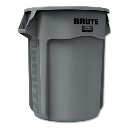 Brute Heavy-Duty Round Trash Can Without Lid, Gray, 55 Gallons