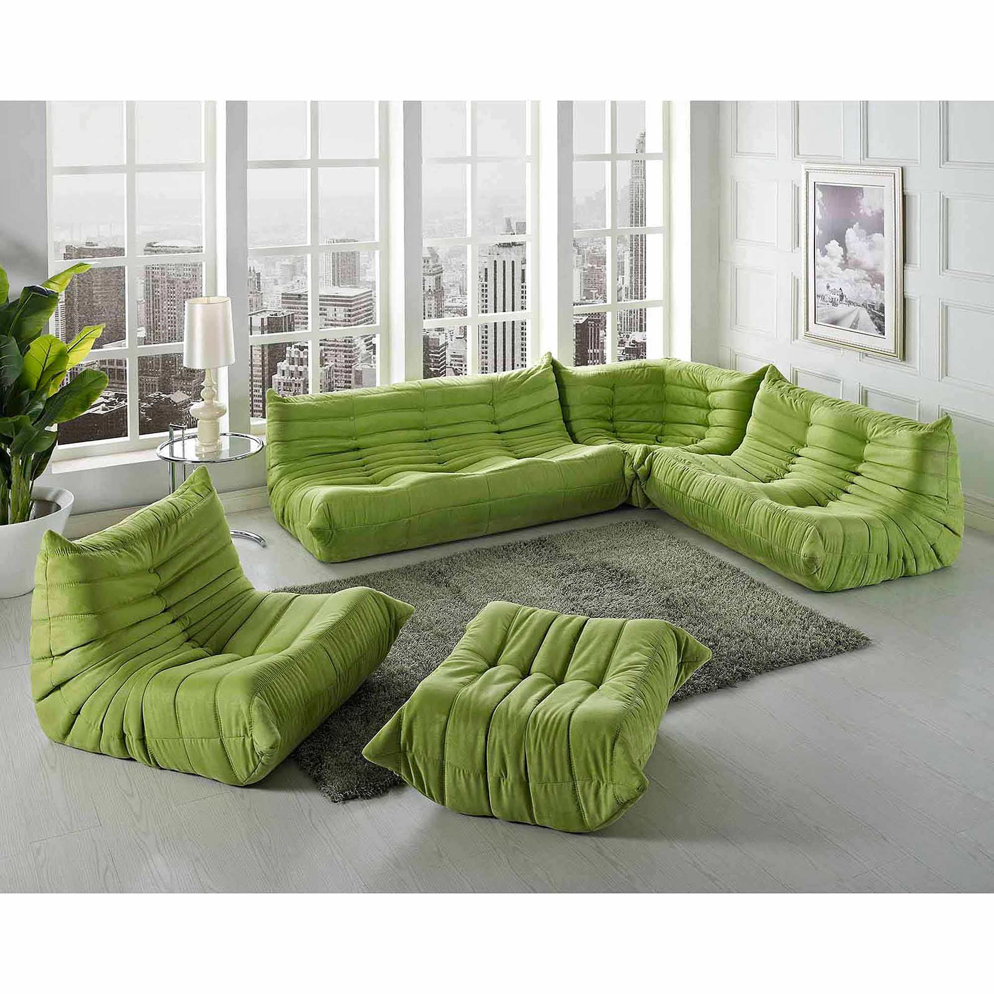 Modway Waverunner Sofa Set Multiple Colors Walmart