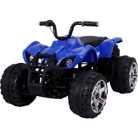 Mini Moto ATV 24v, Lights MP3 Port 5 MPH Max Weight 88 Lbs Age 3-6 Years, Blue ()