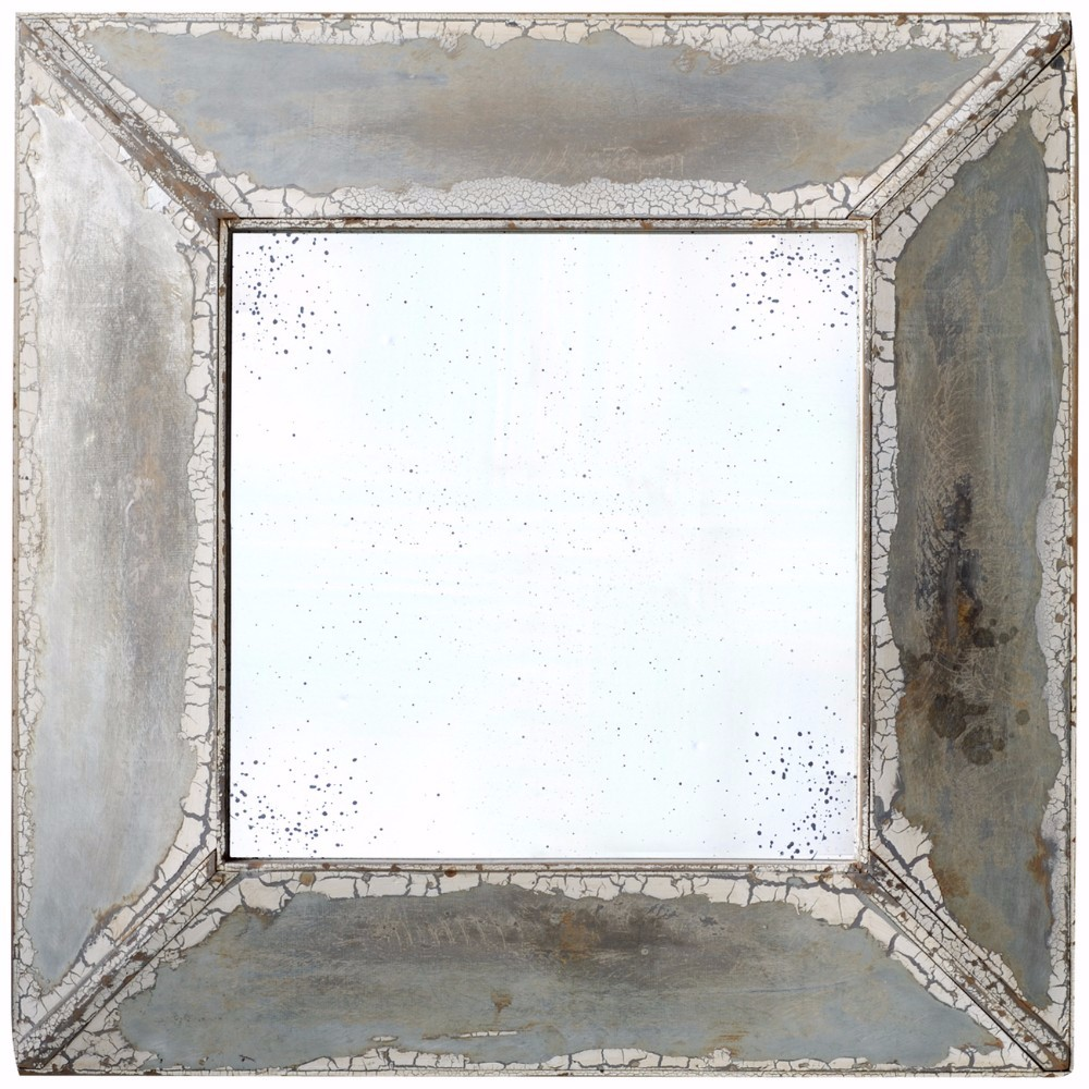 Beautifully Aged Square Mirror by Benzara