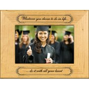 Giftworks Plus SCH0016 Whatever You Do, Alder Wood Frame, 3.5 x 5 In