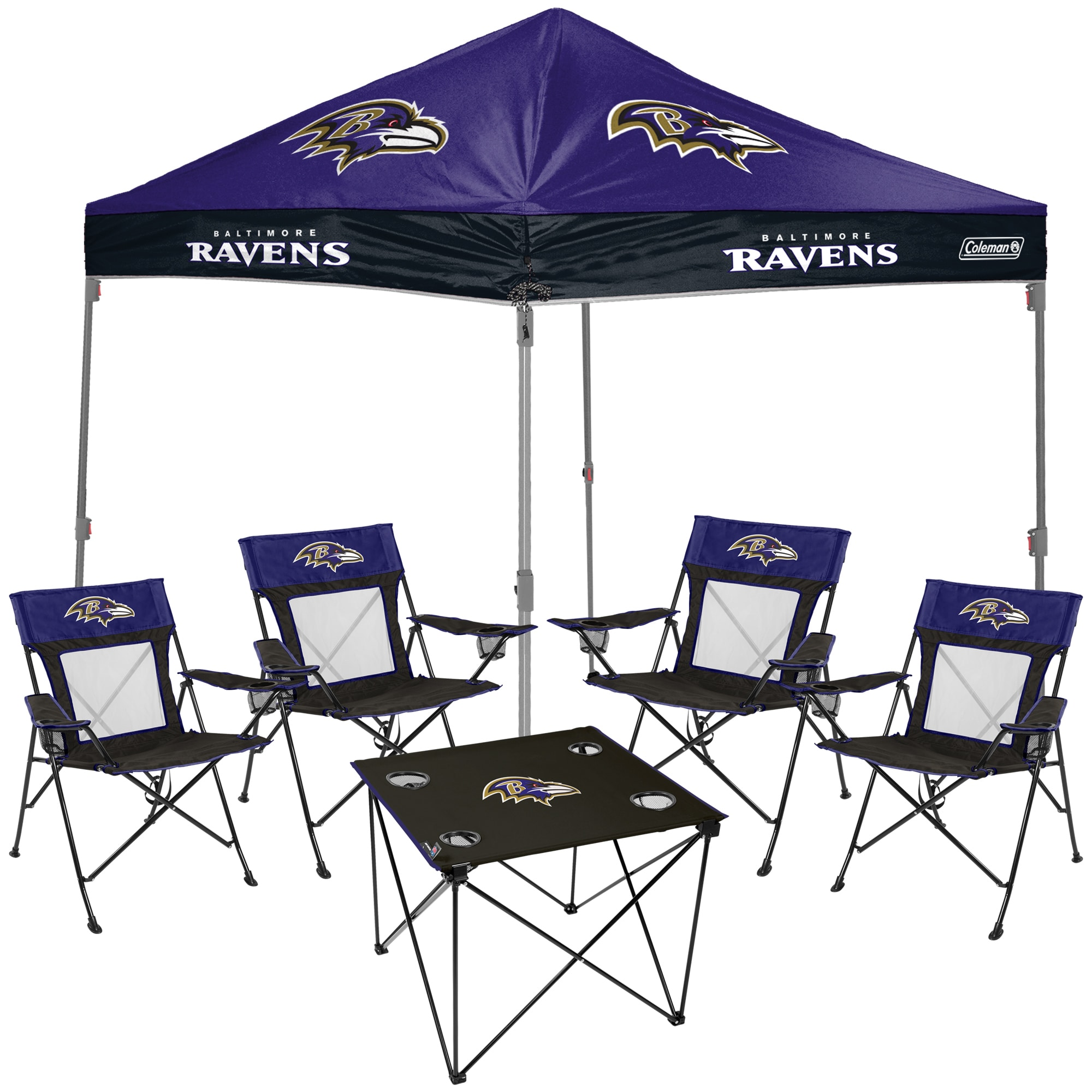One size Rawlings Baltimore Ravens Tailgate Kit Team Color