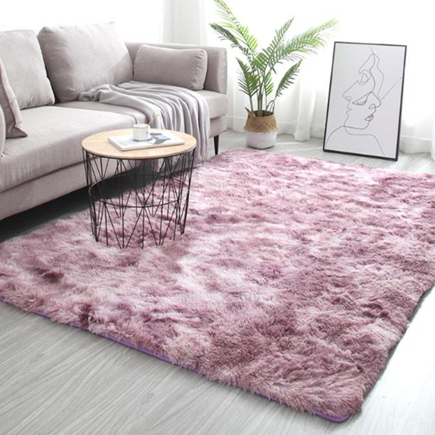 Tie Dye Carpet Soft Shag Shaggy Area Rug Fluffy Floor Rug Bedroom Dining Room Bedside Carpet Washable Mat Walmart Com Walmart Com