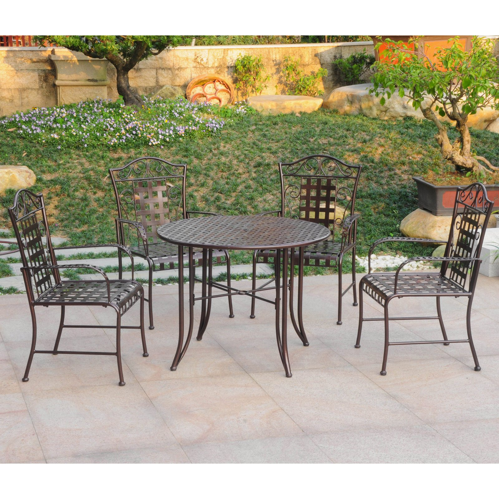 International Caravan Mandalay 5 pc. Outdoor Patio Dining Set