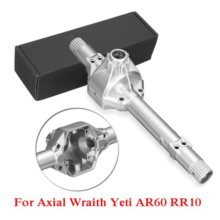 RC Car Steel Alloy Front Rear Axle Housing Replacement For 1/10 Axial Wraith Yeti AR60 RR10 Silver 7.1