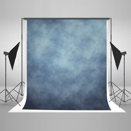 GreenDecor Polyster 5x7ft Photo Backdrops for Photographers Retro Solid Light Blue Background Photography Props Studio Digital Printed Backdrop Chroma Key Digital Backdrops