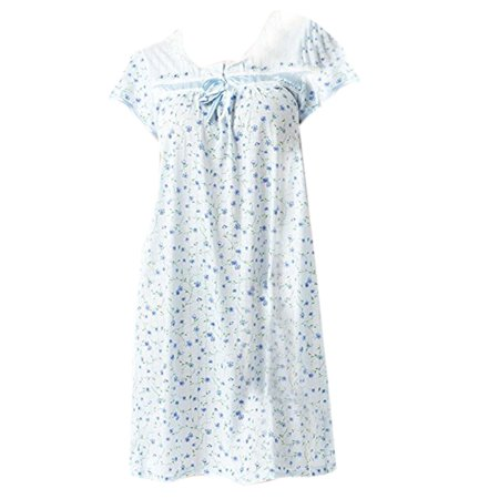 Women's Cap Sleeve Floral Nightgown by -
