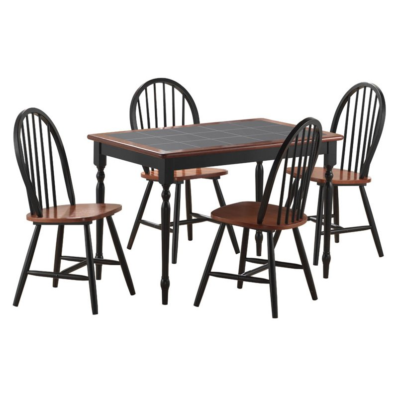 farmhouse dining set boraam farmhouse 5 tile top rectangular dining set 29154