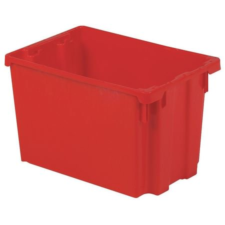 Lewisbins 65 lb Capacity, Stack and Nest Container, Red SN2013-12 RED