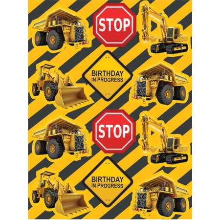 Club Pack of 96 Construction Birthday Zone Value Stickers