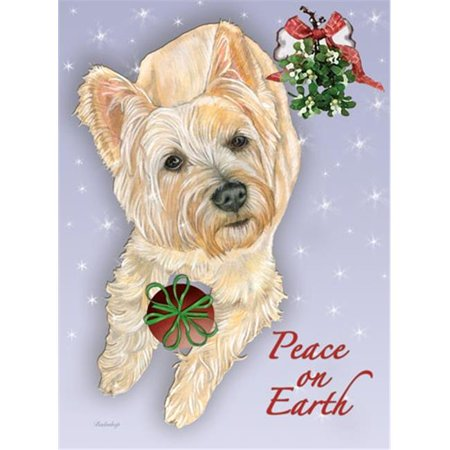 Pipsqueak Productions C583 Cairn Terrier Mistletoe Christmas Boxed Cards - Pack of 10