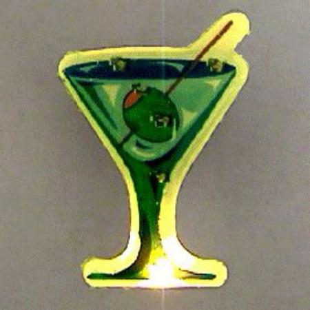 Martini Flashing Body Light Lapel Pins