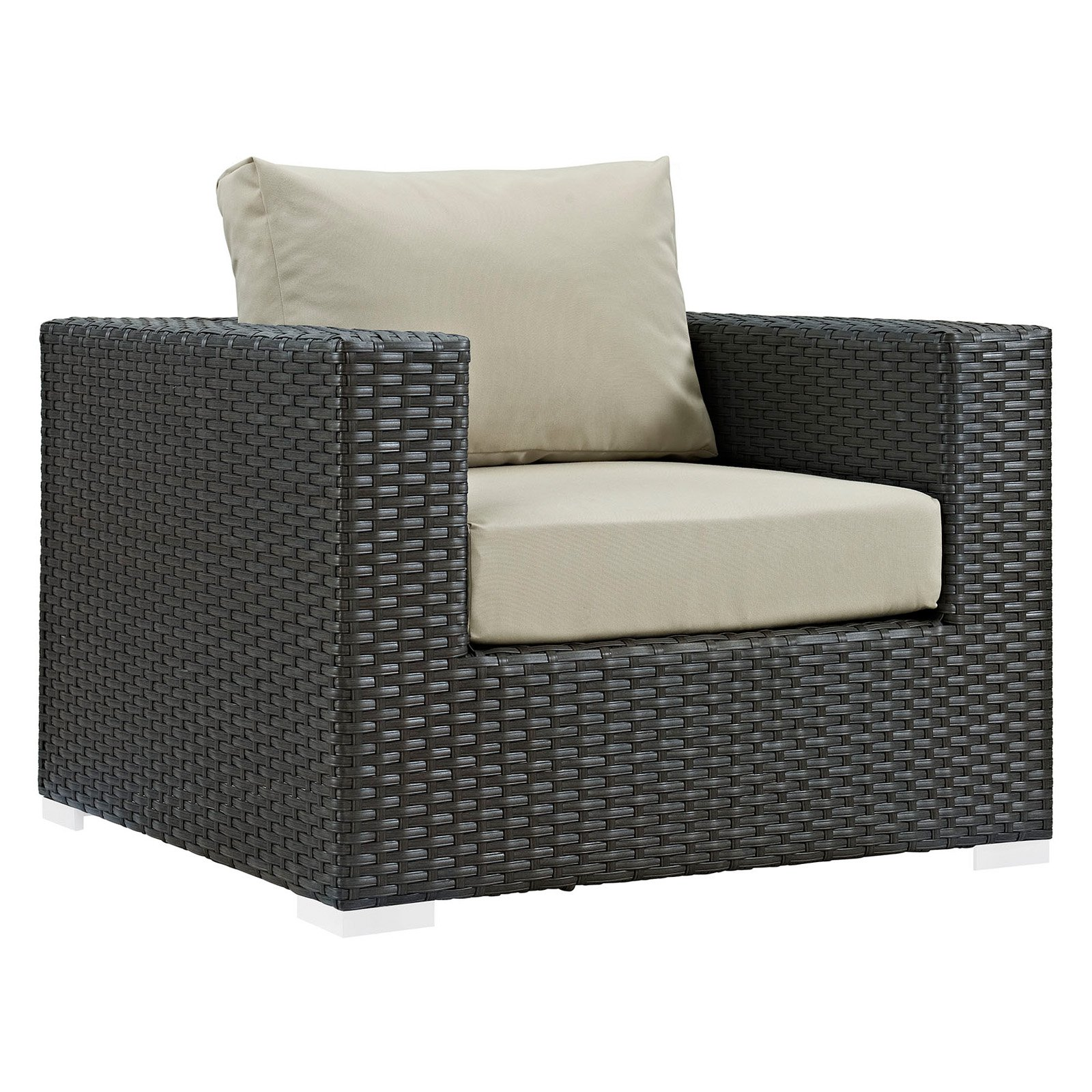 Modway Sojourn Outdoor Patio Sunbrella Armchair, Multiple Colors