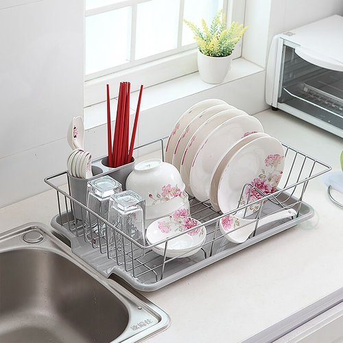 Basicwise Stainless Steel Dish Rack Plate by Quickway Imports