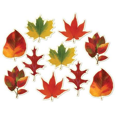 The Holiday Aisle 12 Piece Fall/Thanksgiving Mini Leaf Cutout Set (Set of 24) - Leaf Cutouts