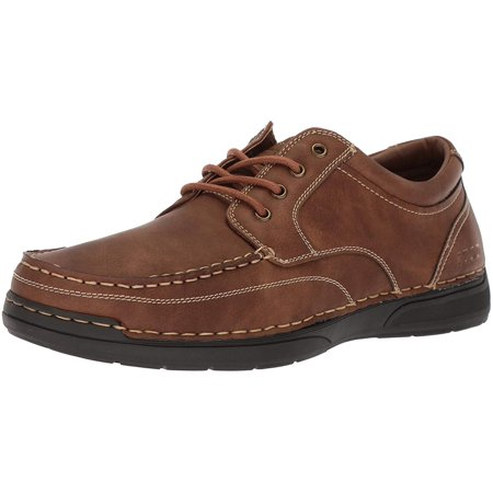Izod Mens Freeman Leather Closed Toe Boat Shoes