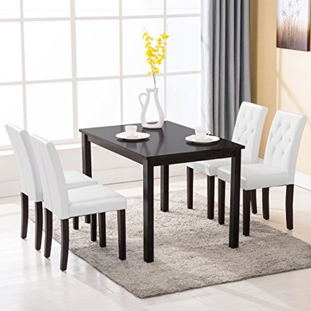 5 piece dining table set 4 chairs kitchen room breakfast furniture. Black Bedroom Furniture Sets. Home Design Ideas
