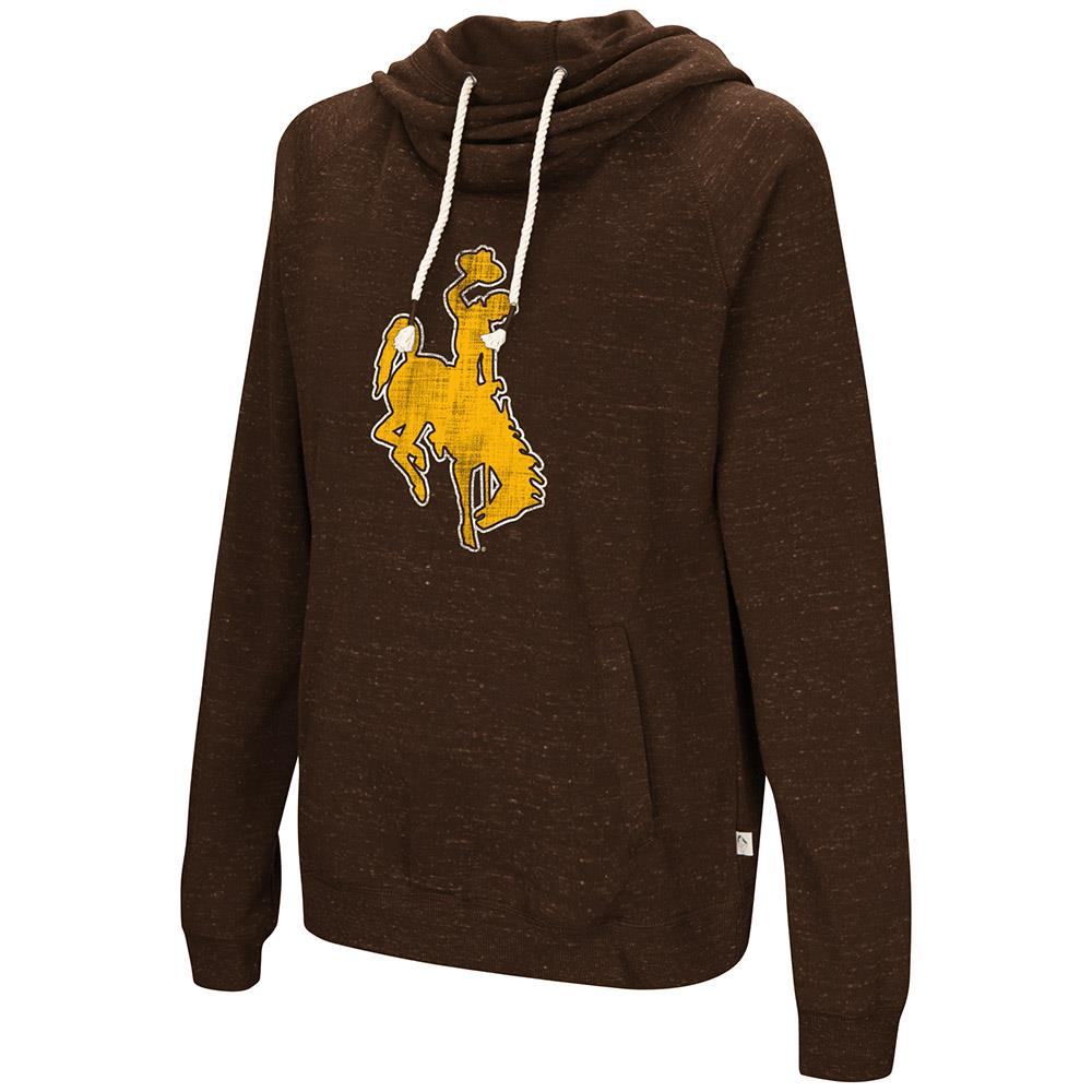 Womens Wyoming Cowboys Pull-over Hoodie - S