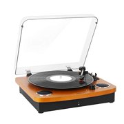 Record Player Vintage Vinyl Record Turntable Player with BT,LP 3-Speed Belt-Drive,RCA Output,3.5mm Aux Input,Headphone Jack
