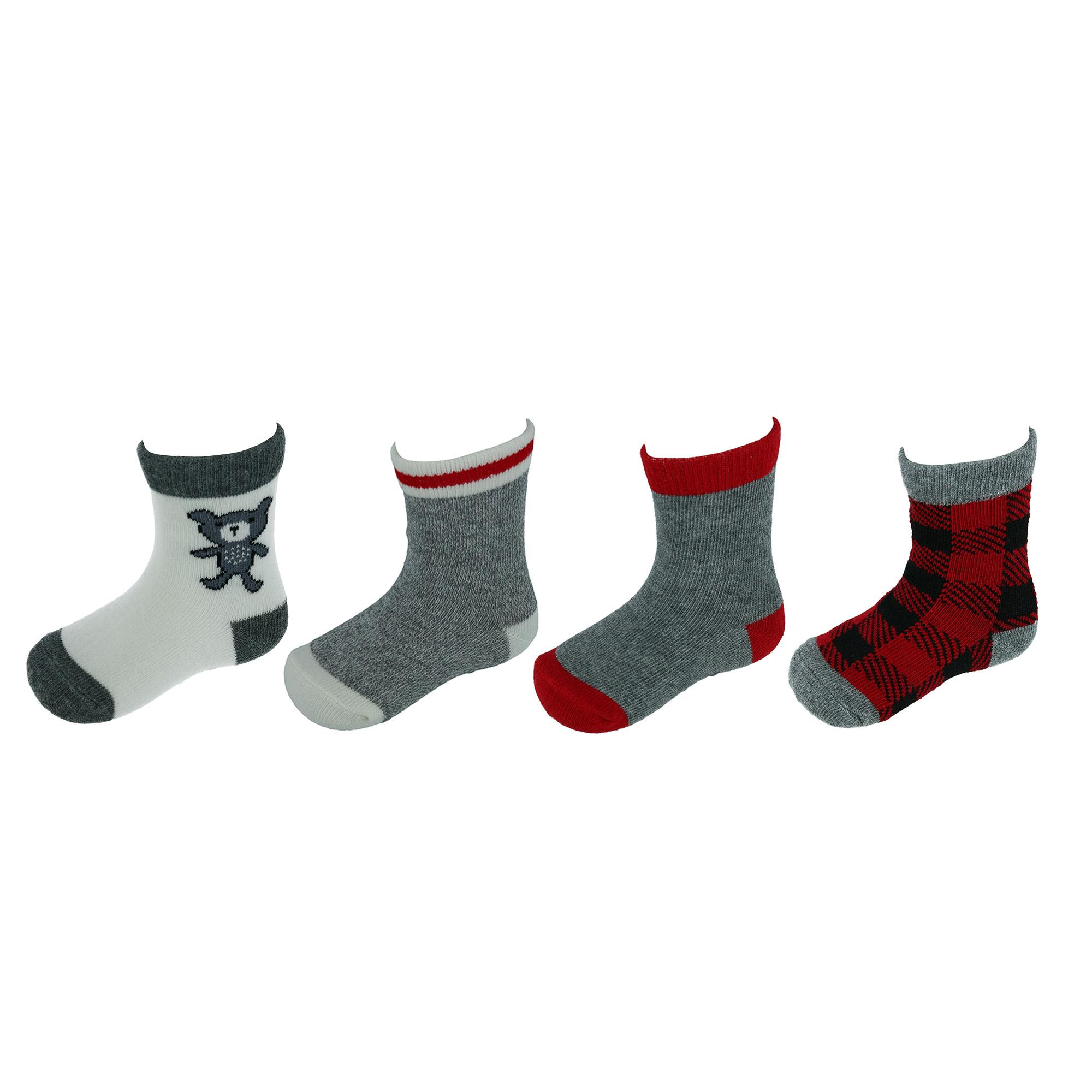 New Kids *6 Pack Super Value* Plain Cotton Mix Back To School Ankle Socks
