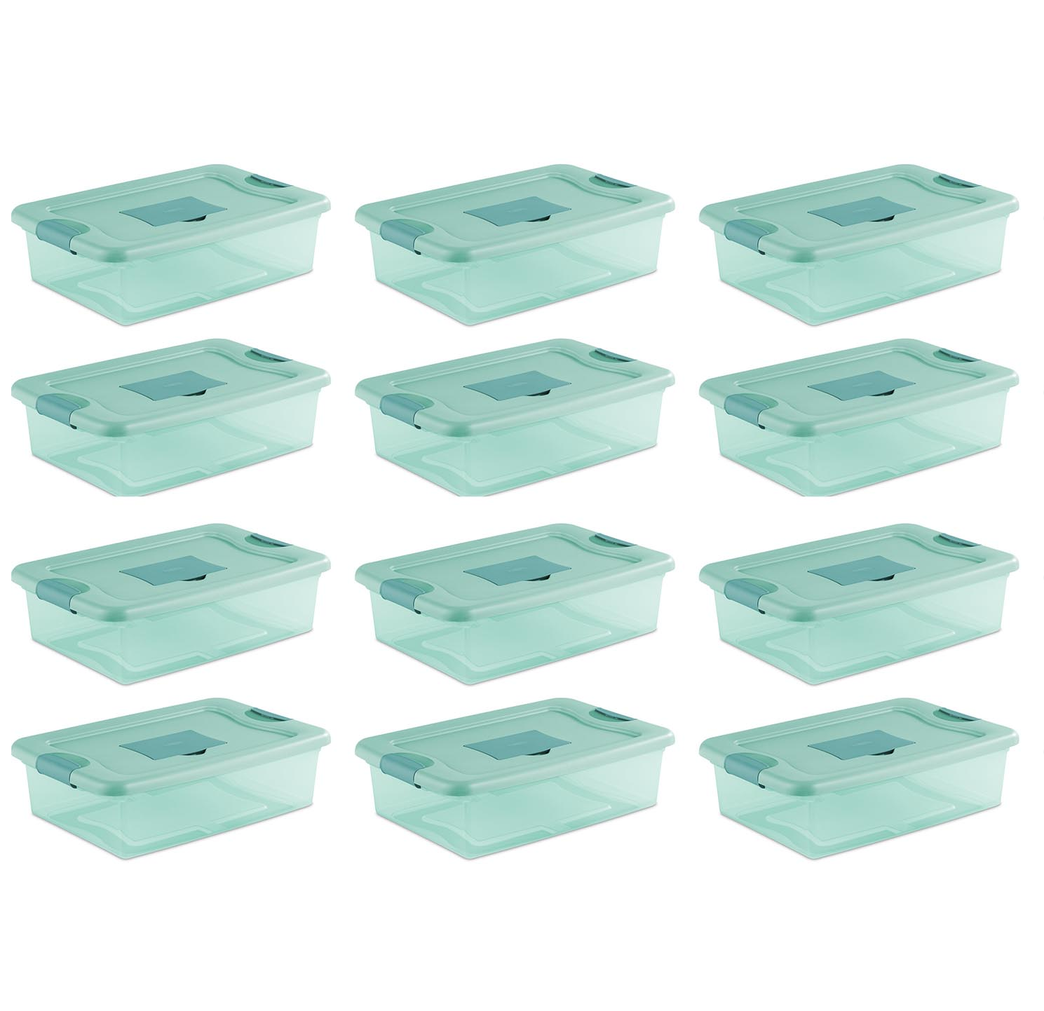 Sterilite 32 Quart Fresh Scent Stackable Plastic Storage Box Container (12 Pack)