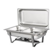 UBesGoo 7Qt Stainless Steel Chafing Dish Complete Full Size Chafer Buffet Dish, for Catering Buffet Warmer Tray Kitchen Party Dinin
