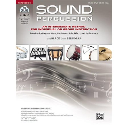Alfred 00-47318 Sound Percussion An Intermediate Method for Individual or Group Instruction - Snare Drum & Bass (Bass Drum Black Lacquer)