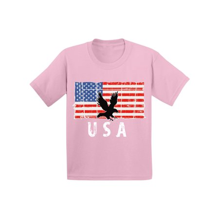 Awkward Styles Eagle USA Toddler Shirt Proud American USA Patriotic Kids T shirt USA Kids Pro America Tshirt for Boys USA Pride Pro America Tshirt for Girls Stripes and Stars 4th of July Kids T-shirt