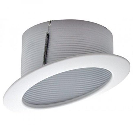 Cost Less Lighting 6 Inch Sloped Recessed Trim White Stepped Baffle