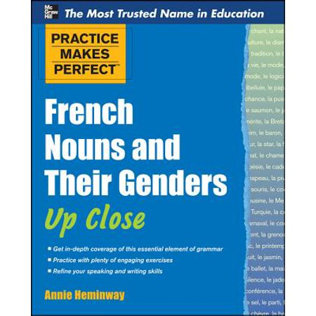 Practice Makes Perfect French Nouns and Their Genders Up - Squirt Close Up