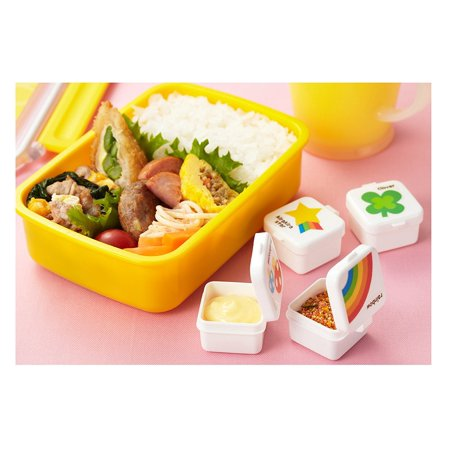 mini condiment mayo container for bento lunch box rainbow clover star mushroom set of 4. Black Bedroom Furniture Sets. Home Design Ideas