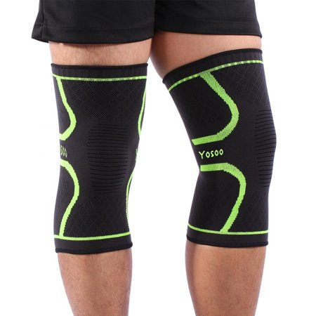 Tbest Knee Compression Sleeve (1 Pair) - Instant Knee Support Brace for Running, Sports, Jogging, Basketball - Meniscus Tear, Arthritis, Joint Pain Relief, Injury Recovery for Men & (Sports Injury Recovery)