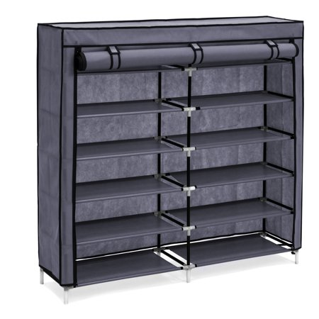 Best Choice Products 6-Tier 36-Shoe Portable Home Shoe Storage Rack Closet Organization System w/ Fabric Cover - (Best Ftp Cloud Storage)