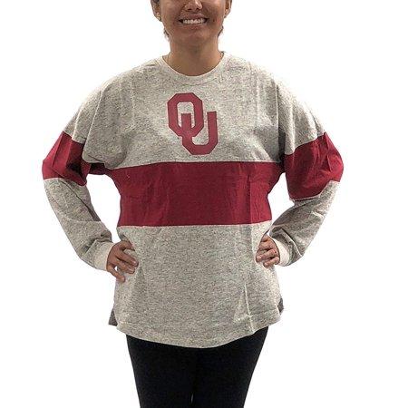 - Oklahoma Sooners OU Oversized Tee; Long Sleeve T - Shirt University Apparel Clothing