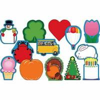 Creative Shapes 068246 Mini Seasonal Notepad Set, Assorted Colors - Set of 13