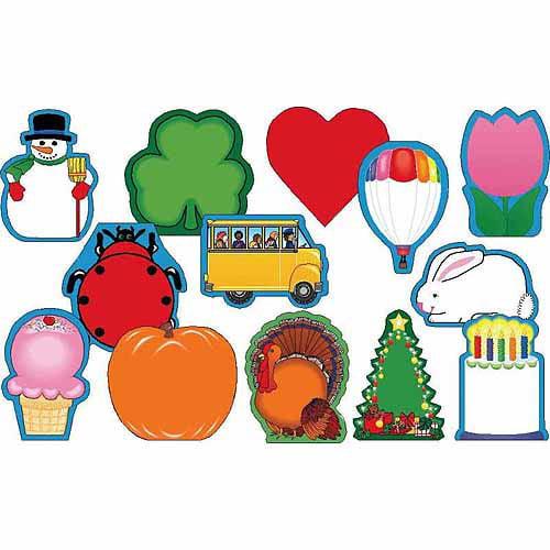 Creative Shapes Etc.t Mini Seasonal Notepad Set, Assorted Colors, Set of 13