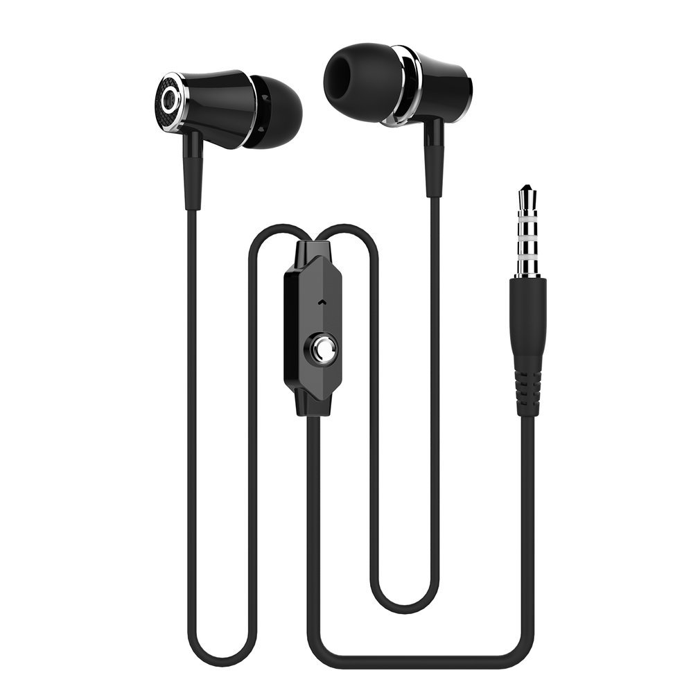 3.5mm In-Ear Universal Wired Earphone Headset with Microphone Bass & Microphone Handsfree Sport Stereo Music Earbuds