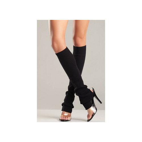 Black Stir-Up Leg Warmers BW654 Black