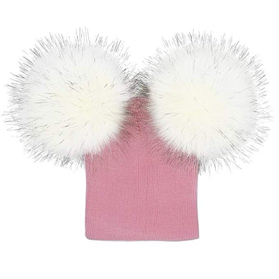 6b030b168f4 Costyle - Baby Kids Boy Girl Knitted Hat Cap With Two Pom Pom Balls Winter  Warm Hat Beanie - Walmart.com