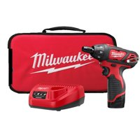 Milwaukee Electric Tool 811058 M12 Cordless 12 volt Lithium-Ion Screwdriver with Two Batteries, Charger & Case