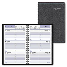 At-A-Glance Block Format Weekly Appointment Book w/Contacts Section, 4 7/8 x 8, Black, 2017 - AAGG21000