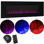 """XtremepowerUS 50"""" Wall Mount Electric Fireplace Changeable Flame Glass + Remote Control, 750W/1500W"""