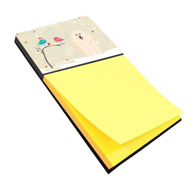 Carolines Treasures BB2502SN Christmas Presents Between Friends Samoyed Sticky Note Holder - image 1 de 1