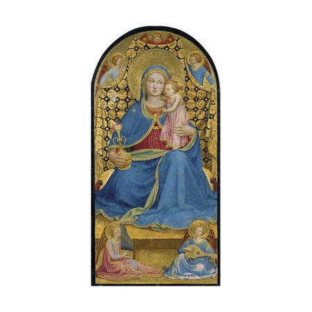 The Virgin of Humility (Madonna Dell' Umilit), C. 1433-1434 Print Wall Art By Fra Angelico