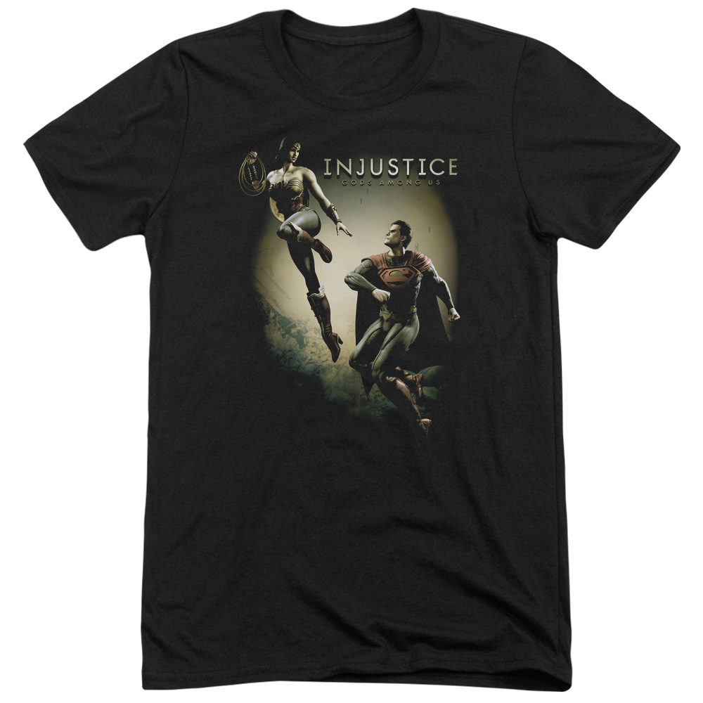 Injustice Gods Among Us Battle Of The Gods Mens Tri-Blend Short Sleeve Shirt