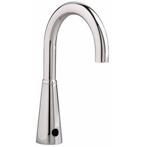 "American Standard 6057.165.002 Vandal-Resistant Multi-AC Powered Selectronic Proximity 0.5 GPM Faucet with 6"" Rigid/Swivel Gooseneck Spout, Chrome"