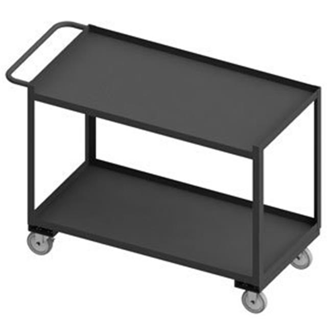 Durham RSC-2448-2-1TLD-95 38 in. 2 Shelf Stock Cart, Gray - 1200 lbs
