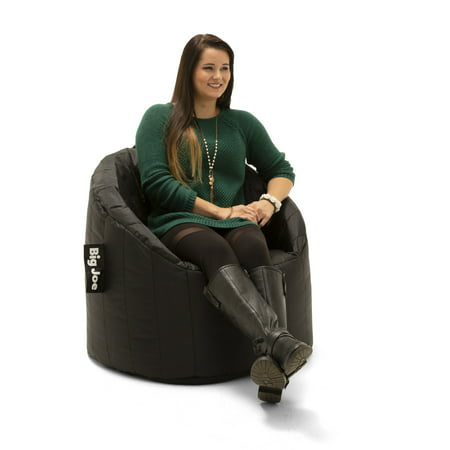 Big Joe Lumin Bean Bag Chair, Available in Multiple Colors Black Vinyl Bean Bag