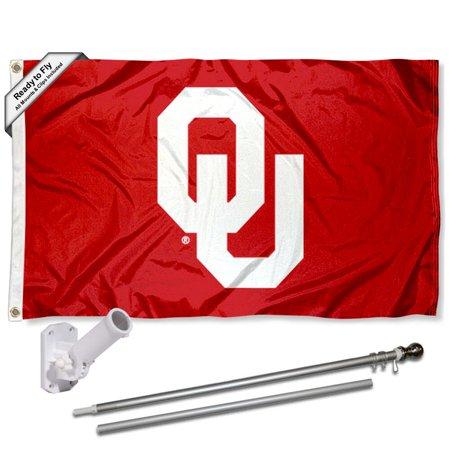 - OU Sooners OU Logo 3x5 Flag and Accessory Kit